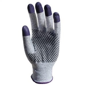 KleenGuard™ G60 Endurapro™ Dual Grip™ Purple Nitrile Gloves 97431 Grey & Purple,  M/8,  1×12 (12 gloves)