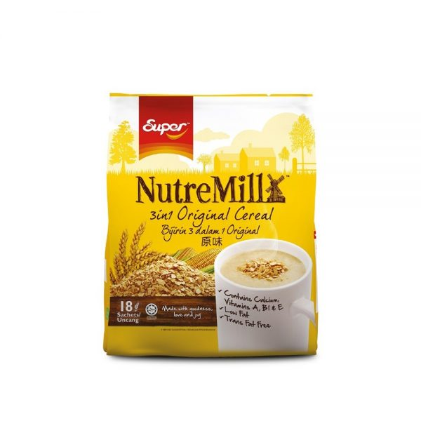 SUPER NUTREMILL 3in1 Original Cereal (30g x 18's)