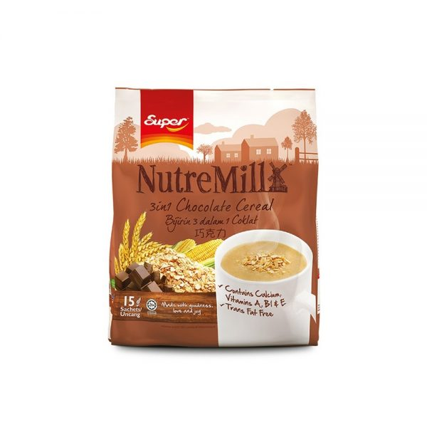 SUPER NUTREMILL 3in1 Chocolate Cereal (30g x 15's)