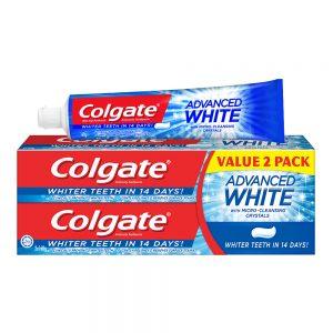 Colgate Advanced White Whitening Toothpaste Valuepack 160g x 2
