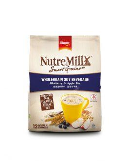 SUPER NUTREMILL SmartGrains WholeGrain Soy Beverage – Blueberry & Apple Bits