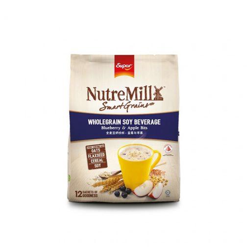 SUPER NUTREMILL SmartGrains WholeGrain Soy Beverage - Blueberry & Apple Bits