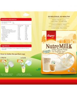 SUPER NUTREMILL Soymilk Powder NO SUGAR ADDED (35g x 15's)