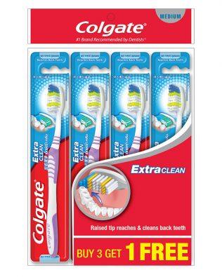 Colgate Extra Clean Toothbrush Valuepack 4s (Medium)