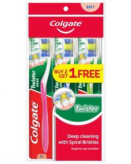 Colgate Twister Toothbrush Valuepack 3s (Soft)