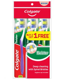 Colgate Twister Toothbrush Valuepack 3s (Medium)