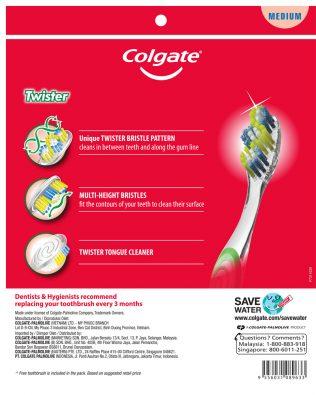 Colgate Twister Toothbrush Valuepack 5s (Medium)