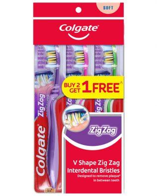 Colgate ZigZag Toothbrush Valuepack 3s (Soft)