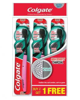 Colgate High Definition Charcoal Toothbrush Valuepack 3s (Ultra Soft)