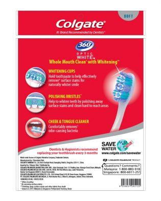 Colgate 360 Optic White Toothbrush Valuepack 3s (Soft)
