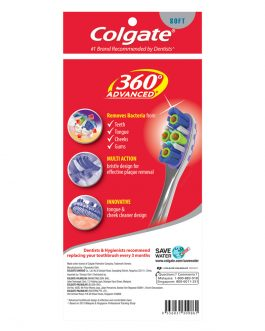 Colgate 360 Advanced Toothbrush Valuepack 3s (Soft)