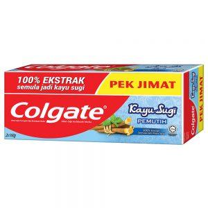 Colgate Kayu Sugi Whitening Toothpaste 160g Twinpack