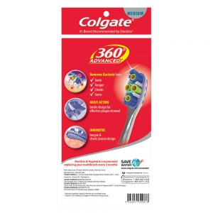 Colgate 360 Advanced Toothbrush Valuepack 3s (Medium)