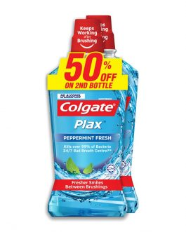 Colgate Plax Peppermint Mouthwash Valuepack 750ml x 2