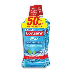 Colgate Plax Peppermint Mouthwash Valuepack 750ml x 2