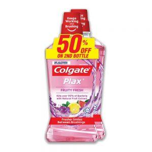 Colgate Plax Fruity Fresh Mouthwash Valuepack 750ml x 2
