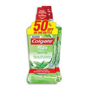 Colgate Plax Fresh Tea Mouthwash Valuepack 750ml x 2