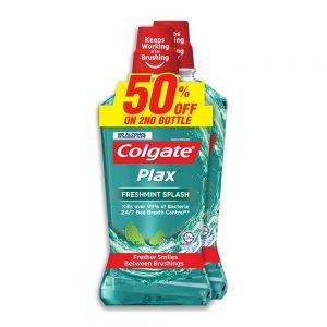 Colgate Plax Freshmint Mouthwash Valuepack 750ml x 2