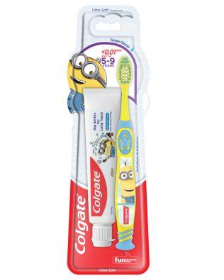 Colgate Kids Minion Toothpaste 40g + Toothbrush 5-9 Years Valuepack