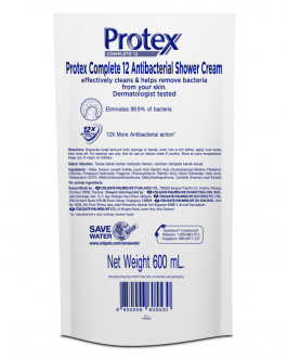 Protex Complete 12 Antibacterial Shower Gel 600ml Refill