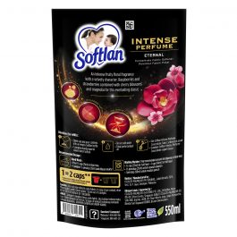 Softlan Intense Perfume 550ml Eternal Concentrated Fabric Softener Refill Concentrate Pouch
