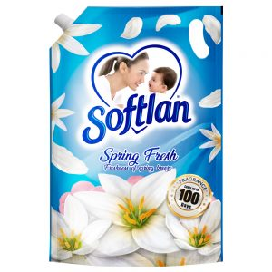 Softlan Anti Wrinkles Spring Fresh (Blue) Fabric Softener 1.4L Refill