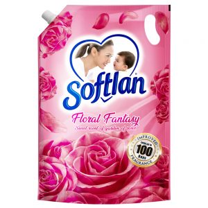 Softlan Anti Wrinkles Floral Fantasy (Pink) Fabric Softener 1.4L Refill