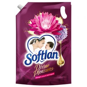 Softlan Divine Pleasures Midnight Lotus & Hydrangeas Fabric Softener 1.3L Refill