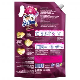 Softlan Divine Pleasures Midnight Lotus & Hydrangeas Fabric Softener 1.3L Refill