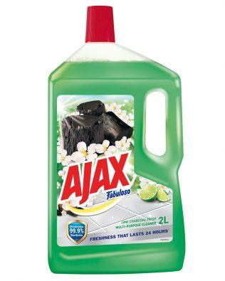 Ajax Fabuloso Lime Charcoal Multi Purpose Floor Cleaner 2L