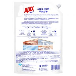 Ajax Fabuloso Apple Multi Purpose Floor Cleaner 1.4L Refill
