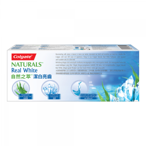 Colgate Naturals Real White Seaweed and Crystalline Toothpaste Valuepack 120g x 2