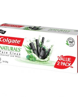 Colgate Naturals Pure Clean (Charcoal &Mint) Toothpaste Valuepack 120g x 2
