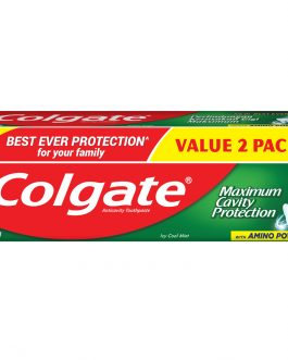 Colgate Maximum Cavity Protection Toothpaste Valuepack 225g x 2 (Icy Cool Mint)