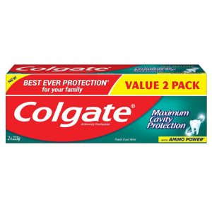 Colgate Maximum Cavity Protection Toothpaste Valuepack 225g x 2 (Fresh Cool Mint)