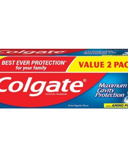 Colgate Maximum Cavity Protection Toothpaste Valuepack 225g x 2 (Great Regular Flavour)