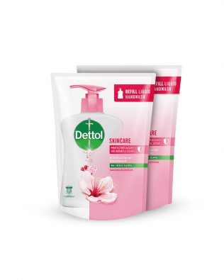 Dettol Hand Wash Skincare Refill Pouch Twin Pack 225ml x 2