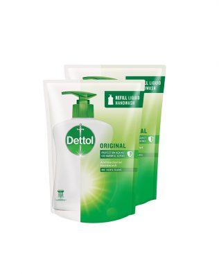 Dettol Hand Wash Original Refill Pouch Twin Pack 225 ml x 2