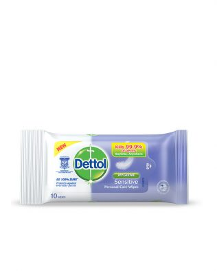 Dettol Anti-Bacterial Wet Wipes Sensitive 10s