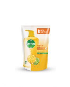 Dettol Shower Gel Fresh 900ml Value Refill Pouch