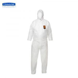KleenGuard™ A20+ Breathable Particle Protection Hooded Coveralls 95170 – White,  L,  1×1 (1 total)