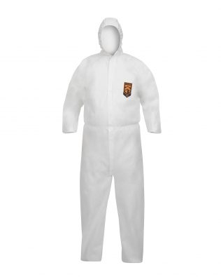 KleenGuard™ A40 Liquid & Particle Protection Hooded Coveralls 97910 – White,  M,  1×1 (1 total)
