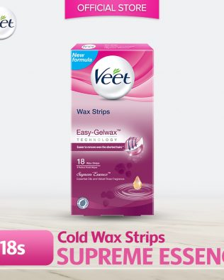 Veet Wax Strip Supreme Essence 18's
