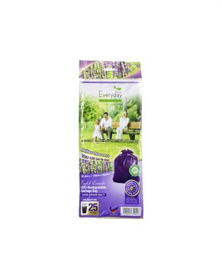 Everday S25 Oxo-Biodegradable Garbage Bag S size (470mm x 550mm) 25pcs – Lavender (Purple)