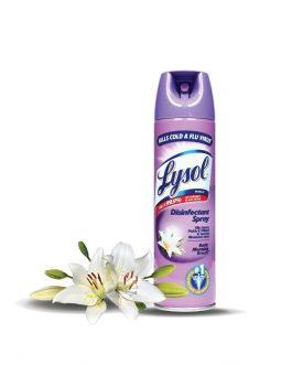 Lysol Disinfectant Spray 170g – Citrus Meadows / Morning Breeze / Fresh Blossom / Crisp Linen