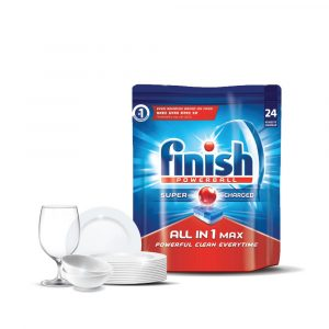 Finish All-in-one Max Power Ball Dishwasher Cleaning Tablets – 24 pcs