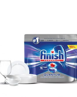 Finish Quantum Power Ball Dishwasher Cleaning Tablets – 18 pcs