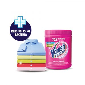 Vanish Fabric Stain Remover Laundry Detergent Powder 450g/500g – Extra Hygiene / Crystal White / Oxi Action