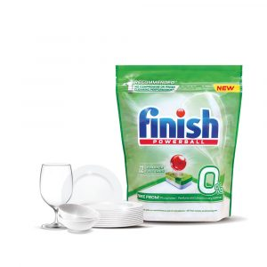 Finish 0% Powerball Dishwasher Tablets – 22 Tablets