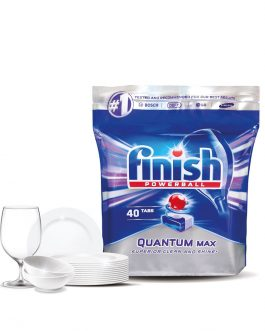Finish Quantum Dishwasher Cleaning Tablets – 40 pcs